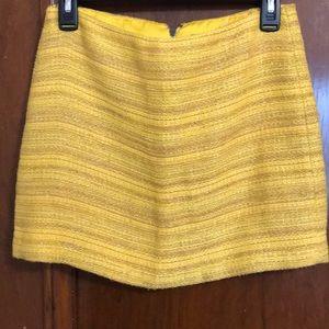 Alice + Olivia Skirts - Alice+Olivia yellow & metallic gold mini skirt